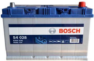 Акция на Автомобильный аккумулятор Bosch 95Аh (-/+) ASIA Евро S4028 (830EN) (0092S40280) от Rozetka