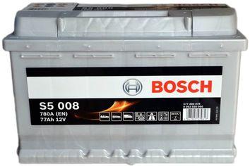 Акция на Автомобильный аккумулятор Bosch 77Аh Ев (-/+) S5008 (780EN) (0092S50080) от Rozetka