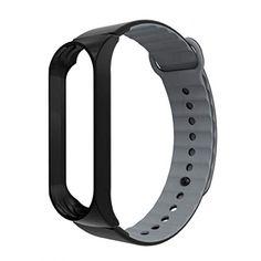 Акция на Ремешок ArmorStandart Sport Silicone Band Black/Black-Grey для браслета Xiaomi Mi Band 3 (AS_54514) от Allo UA