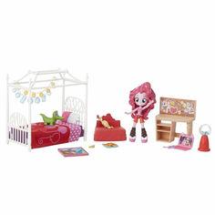 Акция на Моя Маленькая Пони Спальня Пинки Пай(черно-кр) MLP Equestria Girls Minis Pinkie Pie Slumber Party Bedroom Set от Allo UA