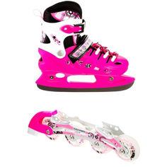 Акция на Ролики-коньки Scale Sport. Pink (2в1), размер 38-41 от Allo UA