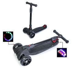 Акция на Детский самокат Smart. Black. Складная ручка Super scooter от Allo UA