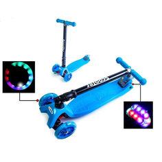 Акция на Детский самокат MAXI Blue Складная ручка Super scooter от Allo UA