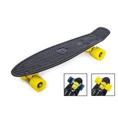 """Акция на Penny Board """"Fish"""" Черный цвет. Матовые колеса от Allo UA"""