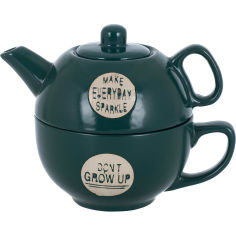 Акция на Заварник LIMITED EDITION GOOD MORNING 420 мл + чашка 340 мл Green (117100019-C) от Foxtrot