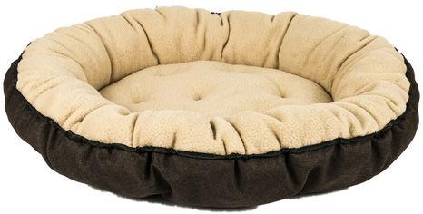 Акция на Лежанка для котов и собак Фортнокс FX Home 56х56х10 см Бежевая с коричневым (2820000013163) от Rozetka