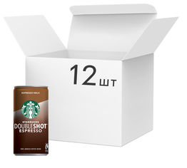 Акция на Упаковка напитка молочного с кофе Starbucks Doubleshot Espresso 12 шт х 200 мл (5711953078019) от Rozetka