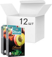 Акция на Упаковка чая черного пакетированного Dilmah Персик 12 шт по 20 пакетиков (19312631142256) от Rozetka