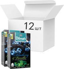 Акция на Упаковка чая черного пакетированного Dilmah Голубика и ваниль 12 шт по 20 пакетиков (19312631142065) от Rozetka