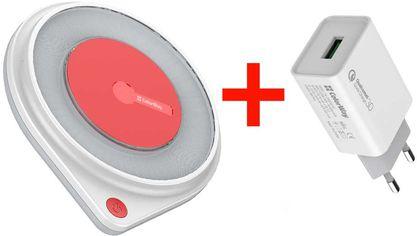 Акция на Беспроводное зарядное устройство СolorWay Qi FC (10W) с LED ночником + Зарядное устройство ColorWay 1USB QC 3.0 (18W) White (CW-CHW20Q-WT-CHS013Q) от Rozetka