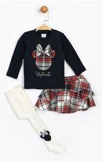 Акция на Комплект (футболка с длинными рукавами + юбка + колготки) Disney Minnie Mouse MN16096 74-80 см Черно-красный (8691109822789) от Rozetka