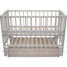 Акция на Детская кроватка Babymax Magia Бук (ящик, маятниковый механизм, откидная боковина) не лакированная от Allo UA