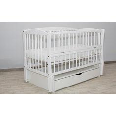 Акция на Детская кроватка Дубик-М Элит Бук (ящик, маятниковый механизм, откидная боковина) Белая от Allo UA