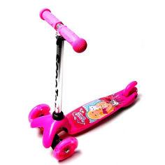 Акция на Детский самокат Scooter Micro Mini c T-образной регулируемая ручкой Barbie от Allo UA