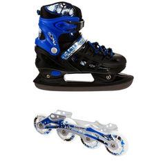 Акция на Ролики-коньки Scale Sport Blue/Black (2в1) размер 38-41 от Allo UA