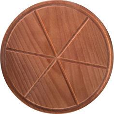 Акция на Доска разделочная HOT-KITCHEN Под пиццу с делениями Деревянная 24 см (ДПП24) от Allo UA