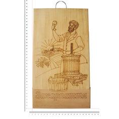 Акция на Доска сувенирная HOT-KITCHEN Винороб Закарпаття Деревянная с выжиганием 19*33 см (586) от Allo UA