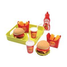 Акция на Набор продуктов Ecoiffier Гамбургер с подносом 957 ТМ: Ecoiffier от Antoshka