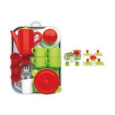 Акция на Игровой набор Ecoiffier Chef-Cook с посудой и подносом, 32 эл. 972 ТМ: Ecoiffier от Antoshka