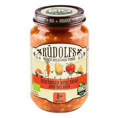 Акция на Пюре Rudolfs Лосось с макаронами и овощами 190 г  ТМ: Rudolfs от Antoshka