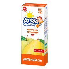 Акция на Сок осветленный яблочно-грушевый, 200 мл  ТМ: Агуша от Antoshka