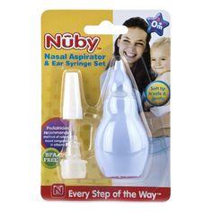 Акция на Аспиратор для носа и насадкой для чистки ушей 172 ТМ: Nuby от Antoshka
