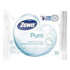 Акция на Влажная туалетная бумага Zewa Pure 42 шт 13580/6788 ТМ: Zewa от Antoshka