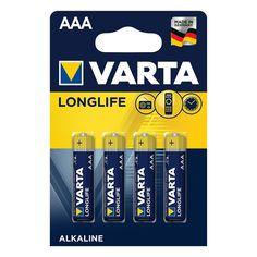 Акция на Батарейка Varta Longlife AАА BLI 4 Alkaline 4103101414 ТМ: VARTA от Antoshka