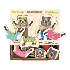 Акция на Набор пазлов-вкладышей Quokka Квокка дети  QUOKA002QC ТМ: Quokka от Antoshka