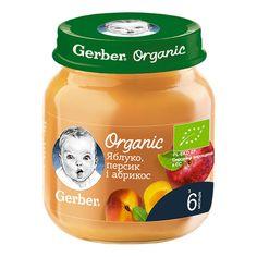 Акция на Пюре Gerber Organic Яблоко Персик Абрикос125 г 12394592 ТМ: Gerber от Antoshka