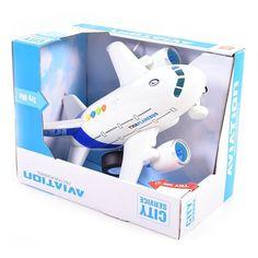 Акция на Самолет инерционный Shantou со светом и звуком 1:120 WY730A ТМ: Shantou Jinxing plastics ltd от Antoshka
