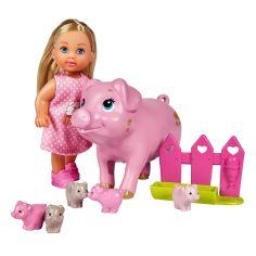 Акция на Набор Steffi & Evi Love Эви и свинка с новорожденными поросятами 5733337 ТМ: Steffi & Evi Love от Antoshka
