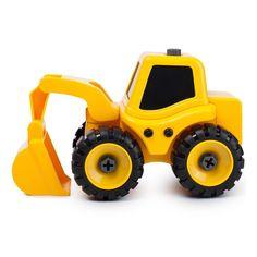 Акция на Трактор с экскаваторной установкой Kaile Toys разборная модель с отверткой KL702-1 ТМ: Kaile Toys от Antoshka
