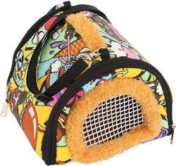 Акция на Домик-переноска для собак и кошек Traum 18х18х15 см Разноцветный (7061-01) от Rozetka