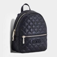 Акция на Женская сумка-рюкзак Guess Elliana 232 Черная (2000029587450) от Rozetka