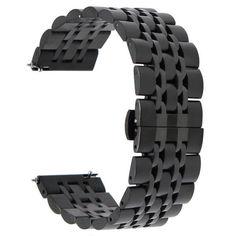 Акция на Браслет универсальный Ремешок 22мм Link стальной браслет Черный BeWatch (1021401) от Allo UA