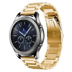 Акция на Браслет для Samsung Galaxy Watch 46mm | Galaxy Watch 3 45 mm Ремешок 22мм стальной классический Золотистый BeWatch (1020428) от Allo UA