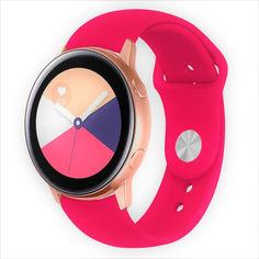 Акция на Ремешок для Samsung Galaxy watch Active   Active 2   Galaxy Watch 3 41 mm силиконовый 20 мм Красный BeWatch (1010303) от Allo UA