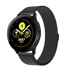 Акция на Браслет для Samsung Galaxy Watch Active   Active 2 миланская петля 20mm Ремешок Черный BeWatch (1010201) от Allo UA