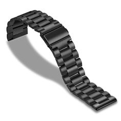 Акция на Браслет универсальный 22мм Xtra Ремешок для смарт-часов классический стальной Черный BeWatch (1020401) от Allo UA