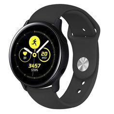 Акция на Ремешок для Samsung Galaxy watch Active   Galaxy Watch 42   Galaxy Watch 3 41 mm силиконовый 20мм Черный BeWatch (1010301) от Allo UA