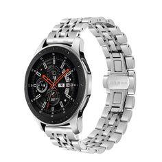 Акция на Браслет для Samsung Galaxy Watch 46 мм | Galaxy Watch 3 45 mm Ремешок 22мм Link Xtra стальной Серебряный BeWatch (1021405) от Allo UA