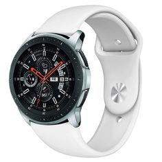 Акция на Ремешок для Samsung Gear S3 силиконовый 22мм Белый BeWatch (1020302) от Allo UA