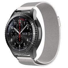 Акция на Браслет для Samsung Galaxy Watch 46 мм   Galaxy Watch 3 45 mm миланская петля Серебро BeWatch (1020205.2) от Allo UA