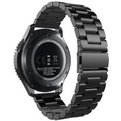 Акция на Браслет для Samsung Gear S3 Ремешок 22мм классический стальной Черный BeWatch (1020401) от Allo UA