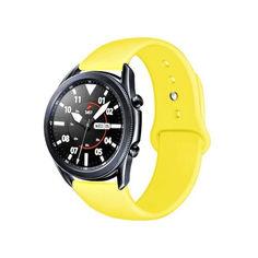 Акция на Ремешок для Samsung Galaxy Watch 42mm | Galaxy Watch 3 41 mm силиконовый 20мм Желтый BeWatch (1010320) от Allo UA
