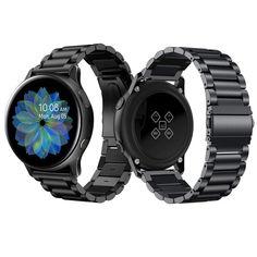 Акция на Браслет для Samsung Galaxy Watch Active   Active 2 Ремешок 20мм стальной классический Черный BeWatch (1110401) от Allo UA