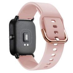 Акция на Ремешок для Xiaomi Amazfit BIP   GTS   GTR 42mm силиконовый 20мм NewColor Розовый (1012311) от Allo UA