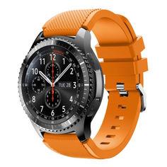 Акция на Ремешок для Samsung Gear S3 | Samsung Galaxy Watch 46 mm силиконовый 22 мм ECO Оранжевый BeWatch (1021107) от Allo UA