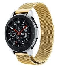 Акция на Браслет для Samsung Gear S3 | Galaxy Watch46 | Galaxy Watch 3 45 mm Ремешок миланская петля 22мм Gold BeWatch (1020228) от Allo UA